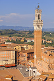 Italy, Tuscany, Siena District, Siena. Town Hall and Torre Del Mangia. Photographic Print by Francesco Iacobelli