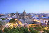 The Cathedral of San Salvador at Dawn, Jerez De La Frontera, Cadiz Province, Andalusia, Spain Photographic Print by Neil Farrin