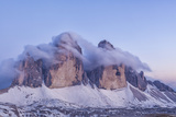 Italy, Trentino-Alto Adige, the Dolomite Peaks Tre Cime Di Lavaredo Wreathed in Cloud Photographic Print by Anne Maenurm