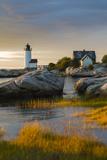 USA, Massachusetts, Gloucester, Annisquam, Annisquam Lighhouse Papier Photo par Walter Bibikow