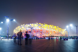Beijing, China. Olympic Park, National Stadium (Called the Bird's Nest) at Night Photographic Print by Matteo Colombo