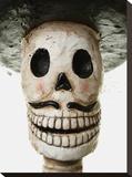 Sugar Skull Mariachi Stretched Canvas Print