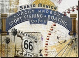 Santa Monica 2 Stretched Canvas Print
