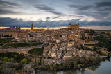 City Skyline at Sunset, Toledo, Castile La Mancha, Spain Photographic Print by Stefano Politi Markovina