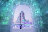Spectacular Illuminated Ice Sculptures Photographic Print by Gavin Hellier