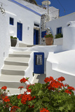 Hotel in Imerovigli, Santorini, Cyclades, Greece Photographic Print by Katja Kreder