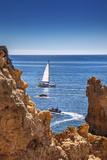 Sailing Boat, Ponta De Piedade, Lagos, Algarve, Portugal Photographic Print by Sabine Lubenow