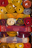 Morocco, Marrakech, Carpets in Market Photographic Print by Andrea Pavan