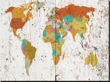 World Map VIII Stretched Canvas Print
