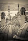 Turkey, Istanbul, Sultanahmet, Domes Fotodruck von Alan Copson
