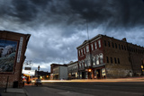 A Scenic View of Downtown Historic Leadville, Colorado, with Brooding Dark Storm Clouds Fotografisk tryk af Keith Ladzinski
