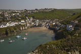 A View of the Harbor at Low Tide, at Port Isaac, Near Padstow, on the Atlantic Coast of Cornwall Fotografisk tryk af Nigel Hicks