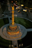 An Aerial View of the Victory Column, Topped by a Statue of Nike, in the Heart of Tiergarten Photographic Print by Marcello Bertinetti