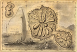 A Map of Tahiti from Captain Cook's Book, Voyage of Discovery with Inset Artwork Photographic Print by Patrick McFeeley