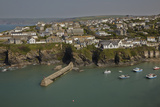 A View of the Harbor at Low Tide, at Port Isaac, Near Padstow, on the Atlantic Coast of Cornwall Photographic Print by Nigel Hicks