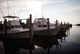 Yachts Docked in the Hatteras Marina in North Carolina Photographic Print by Chris Bickford