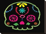 Sugar Skull Velvet IV Stretched Canvas Print by Rosa Mesa