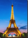 Eifell Tower at Night Stretched Canvas Print