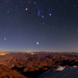 Winter Stars, Including Sirius and the Constellation Orion, Rise Above Zagros Mountains, Iran Photographic Print by Babak Tafreshi