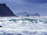 Ocean Waves Break at the Beach at Clogher Head, County Kerry Photographic Print by Chris Hill