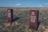 Headstones Mark Where Lakota Indians Died at Little Bighorn Photographic Print by Gordon Wiltsie