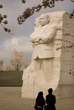 The National Memorial to Dr. Martin Luther King and Cherry Blossoms Photographic Print by Stephen St. John