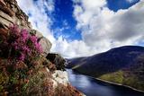 The Reservoir Below the Slopes of Ben Crom in the Mourne Mountains Fotografisk tryk af Chris Hill