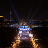 The New Year's Eve 2013 Celebration at the Brandenburg Gate Photographic Print by Babak Tafreshi