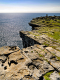 Cliffs at Dubh Cathair on the Aran Island of Inishmore Photographic Print by Chris Hill