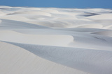 An Aerial Shot of Brazil's Lencois Maranhenses Sand Dunes Photographic Print by Alex Saberi
