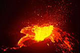 A Lava Bubble Bursts on the Side Wall of a Perched Pond in a Lava Lake Photographic Print by Steve And Donna O'Meara