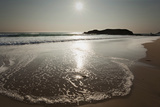 Surf at Constantine Bay, Shortly before Sunset, Near Padstow, Cornwall Photographic Print by Nigel Hicks