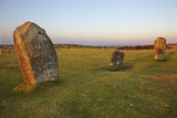 The Hurlers, Prehistoric Stone Circles, on Bodmin Moor, Near Liskeard, Cornwall Photographic Print by Nigel Hicks