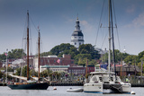 Downtown Annapolis and the State Capitol Dome Seen from the Waterfront Photographic Print by Kent Kobersteen