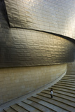 A Person Walking Down the Stairs at the Guggenheim Museum Bilbao Photographic Print by Tino Soriano