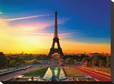 Paris at Dawn II Stretched Canvas Print
