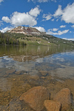Beartooth Butte Reflects in Beartooth Lake in the Absaroka Range Photographic Print by Gordon Wiltsie