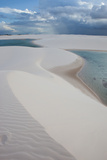 Brazil's Lencois Maranhenses Sand Dunes and Lagoons on a Stormy Afternoon Photographic Print by Alex Saberi