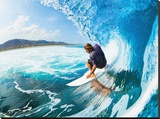 Rippin' the Mad Maui Curls Stretched Canvas Print