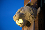 A Tiger Head Light on the Outside of the Comerica Park Building Photographic Print by Melissa Farlow