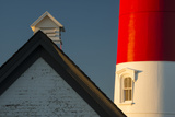 Detail of the Nauset Light, Eastham, Cape Cod, Massachusetts Photographic Print by Michael Melford