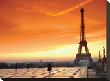 Paris at Dawn Stretched Canvas Print