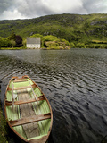 A Rowboat and a Boat House at Gouganbarra, County Cork, Ireland Photographic Print by Chris Hill