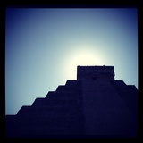 Chichen Itza Against a Backdrop of the Sky and Blazing Sun Photographic Print by Andrew Evans