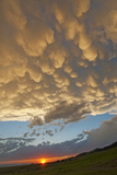 Evening Thunderheads Hover over Montana's Gallatin Valley Photographic Print by Gordon Wiltsie
