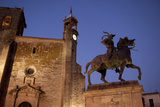The Francisco Pizarro Monument and San Martin Church at the Plaza Mayor in Trujillo Photographic Print by Tino Soriano