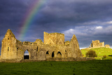 A Rainbow over Hore Abbey and the Rock of Cashel in County Tipperary Photographic Print by Chris Hill