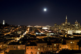Full Moon Rising over San Francisco's Financial District Photographic Print by Jim Sugar