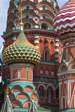 The Colorful Onion Domes of Saint Basil's Cathedral in Red Square Photographic Print by Kent Kobersteen