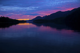 A Stunning Colorful Sunset on the British Columbia Coast Photographic Print by Jed Weingarten